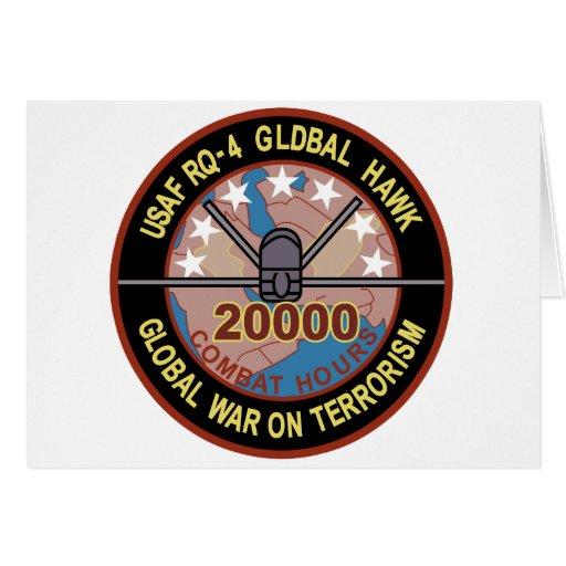 Remiendo global del halcón RQ-4 Felicitación