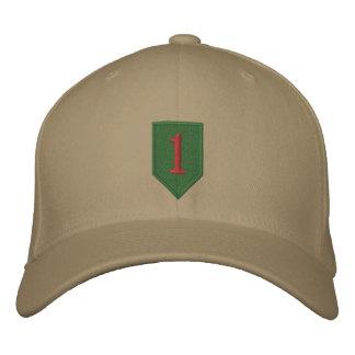 Remiendo grande del rojo uno gorra de beisbol