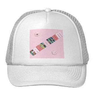 """Remiendo """"Grandmum"""" en rosa a cuadros Gorras De Camionero"""