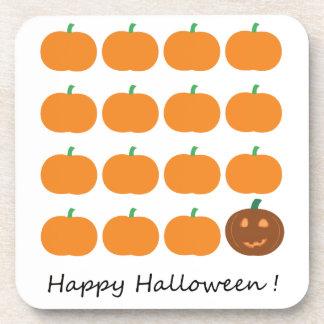 Remiendo lindo de la calabaza del feliz Halloween Posavaso