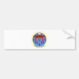 Remiendo militar ALFA INTERMEDIARIO del GRUPO de B Etiqueta De Parachoque