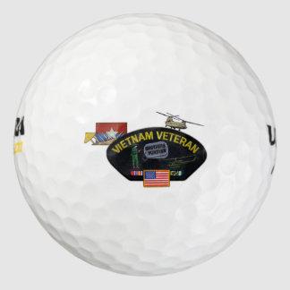 remiendo militar de los veterinarios de los pack de pelotas de golf