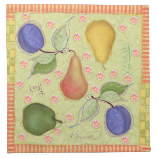 Remiendo modelado de las frutas del verano servilleta de papel