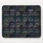 Remiendo negro 2015-2016 calendario Mousepad de 2