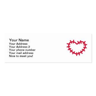 Remiendo rojo del corazón tarjeta de negocio