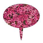 Remiendo rosado de la flor decoraciones de tartas