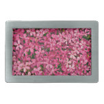 Remiendo rosado de la flor hebillas de cinturón rectangulares