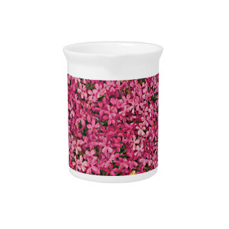 Remiendo rosado de la flor jarras