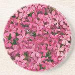 Remiendo rosado de la flor posavasos para bebidas