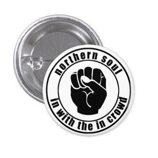 Remiendo septentrional del alma en botón de la muc pin redondo de 1 pulgada