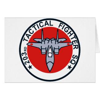 remiendo táctico del combatiente 203SQ Tarjeton