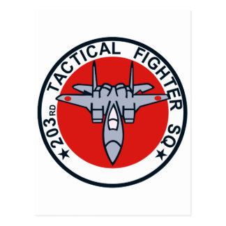 remiendo táctico del combatiente 203SQ Tarjetas Postales