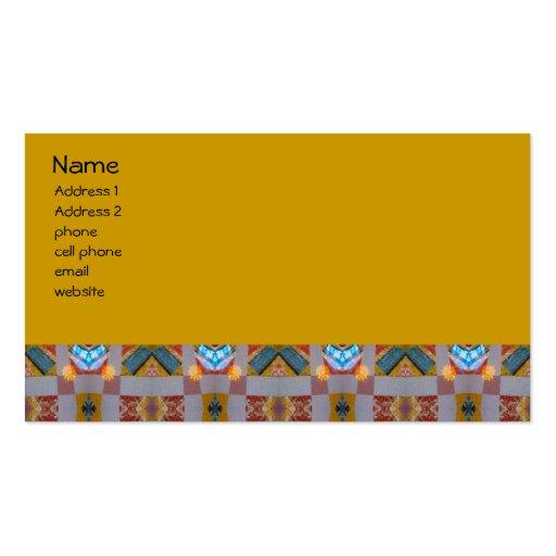 remiendo viejo de la moda tarjetas de visita