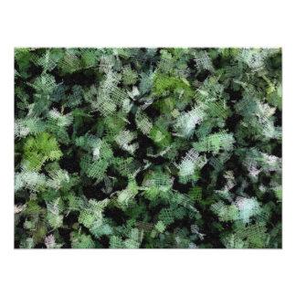 Remiendos de las bacterias que atacan una planta fotografía