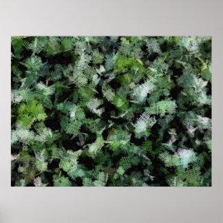 Remiendos de las bacterias que atacan una planta póster