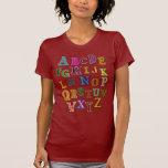 Remiendos del alfabeto camiseta