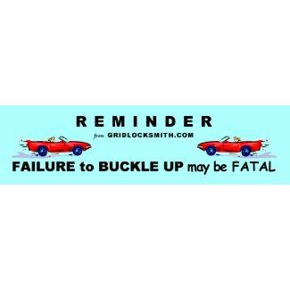 REMINDER-CARS bumpersticker