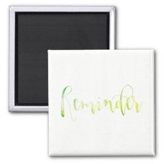 Reminder Event Remember Green Leaf Greenly White Magnet