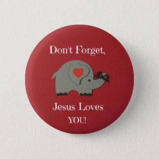 Reminder for children that Jesus loves them! Button