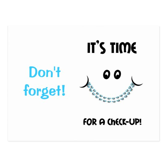 Reminder Orthodontic Appointment Braces Postcard