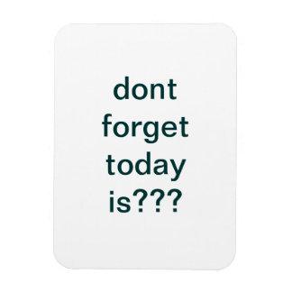 reminder rectangular photo magnet