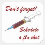 Reminder to schedule a flu shot sticker