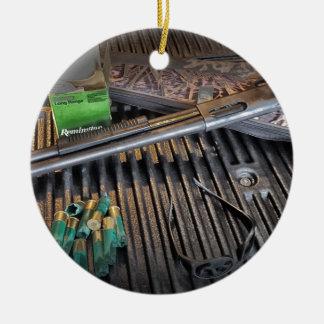 Remington 870 Tactical Shotgun Ceramic Ornament