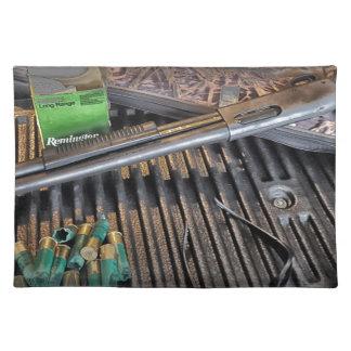 Remington 870 Tactical Shotgun Cloth Placemat