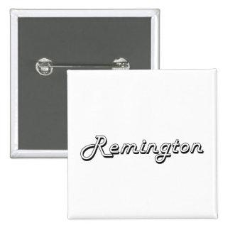 Remington Classic Retro Name Design 2 Inch Square Button