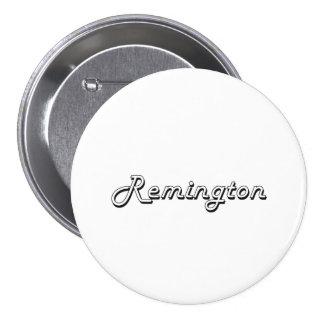 Remington Classic Retro Name Design 3 Inch Round Button