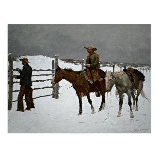 Remington - Fall of the Cowboy Postcard