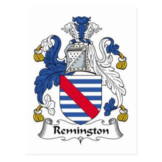 Remington Family Crest Postcard