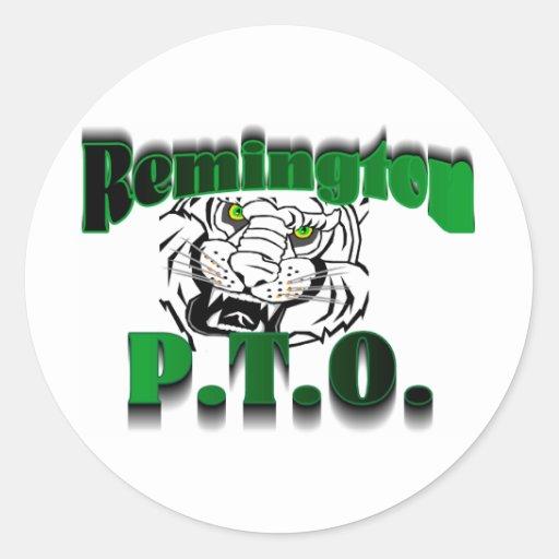 Remington PTO Classic Round Sticker
