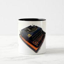 Remington Remette 1939 World's Fair typewriter Two-Tone Coffee Mug