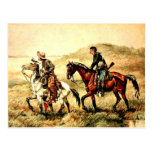Remington - The Couriers, Frederic Remington art Post Cards