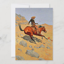 Remington - The Cowboy, famous painting Holiday Card