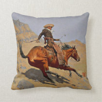 Remington - The Cowboy Throw Pillow
