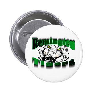 Remington Tigers 2 Inch Round Button
