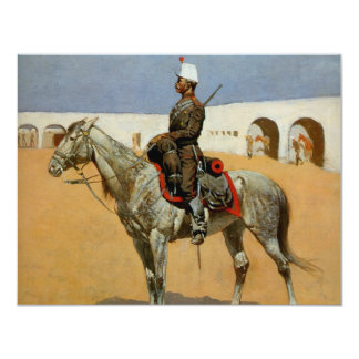 Remington's Cavalryman of the Line, Mexico (1889) 4.25x5.5 Paper Invitation Card