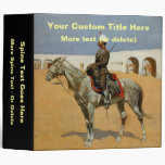 Remington's Cavalryman of the Line, Mexico (1889) 3 Ring Binder