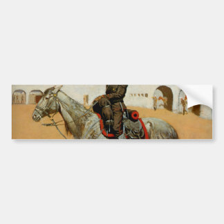 Remington's Cavalryman of the Line, Mexico (1889) Bumper Sticker