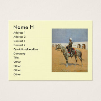 Remington's Cavalryman of the Line, Mexico (1889) Business Card