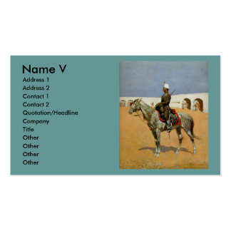 Remington's Cavalryman of the Line, Mexico (1889) Business Card Template
