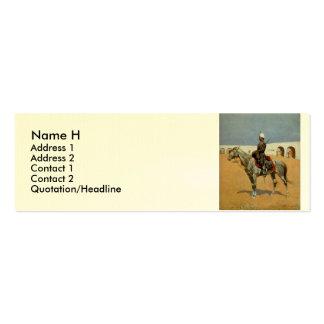 Remington's Cavalryman of the Line, Mexico (1889) Business Card