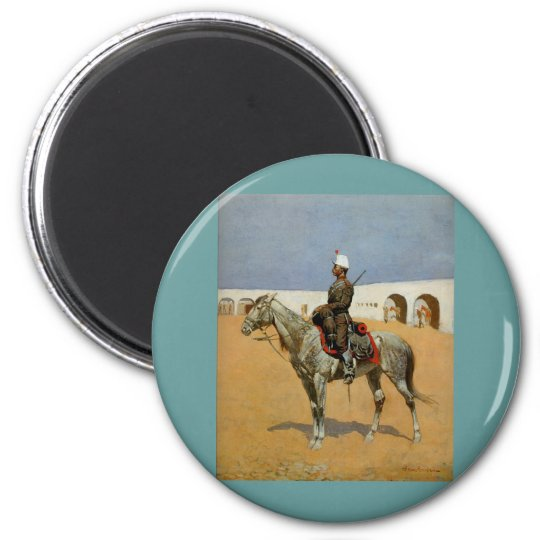 Remington's Cavalryman of the Line, Mexico (1889) Magnet