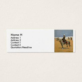 Remington's Cavalryman of the Line, Mexico (1889) Mini Business Card