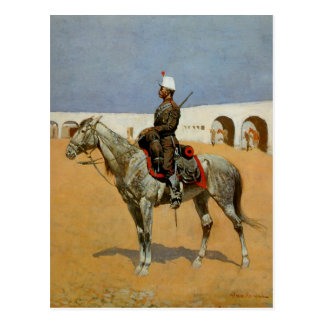 Remington's Cavalryman of the Line, Mexico (1889) Postcard