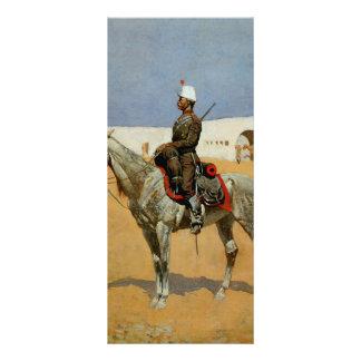 Remington's Cavalryman of the Line, Mexico (1889) Rack Card