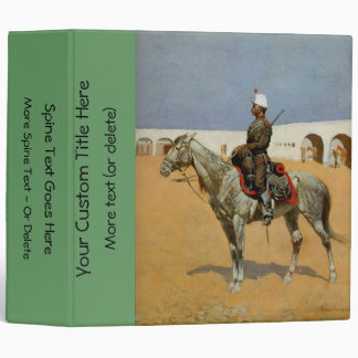 Remington's Cavalryman of the Line, Mexico (1889) Vinyl Binder