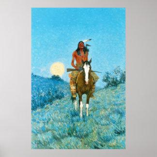 Remington's Native American on horseback Poster